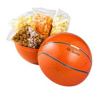 Large Themed Tin Banks - 4 Bags of Assorted Gourmet Popcorn