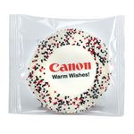 Custom Custom Sugar Cookie w/ Corporate Color Sprinkles