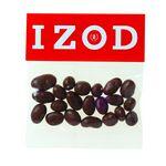Custom Chocolate Raisins in Header Bag (2 Oz.)