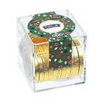 Custom Casino Cube w/ Chocolate Gold Coins