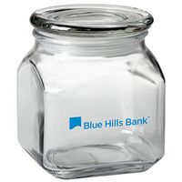 Contemporary Glass Jar - Empty (20 Oz.)