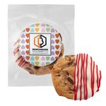 Custom Belgian Chocolate Dipped Chocolate Chip Cookie- Gourmet Chocolate Dipped Cookie