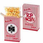 Custom Striped Popcorn Box - Cheddar Popcorn