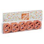 Custom Chocolate Covered Pretzel Knot Sensation - Corporate Color Nonpareil Sprinkles (10 pack)