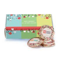 Custom Sugar Cookie w/ Holiday Sprinkles in Mailer Box (12)