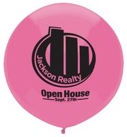 "17"" Crystal/Fun Color Outdoor Display Latex Balloon"
