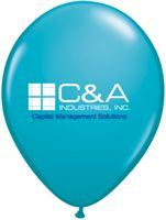 "9"" Qualatex Round Jewel/ Fashion Color Latex Balloon (2 Color Imprint)"