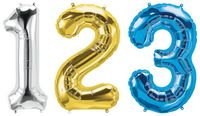 """34"""" Letter, Number & Symbol-Shaped Microfoil Balloon"""