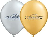 "9"" Qualatex Round Metallic Color Latex Balloon"