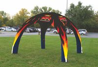 18 ft x 18 ft (11 ft H) Inflatable Event Tent - Full Bleed