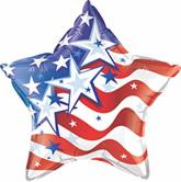 """20"""" Star Stock Microfoil Balloon- STARS & STRIPES FOREVER"""