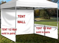 Event Tent Half Wall Pair (Full Bleed) with Railing Hardware