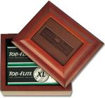 Custom Wood Box W/ Embossed Leather Insert