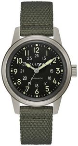 Bulova Mens Military Hack Strap Watch