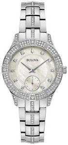 Bulova Ladies' Crystal Dress Sport Watch, Silvertone
