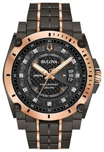 Custom Bulova Watches Men's Champlain Diamond from the Precisionist Collection
