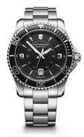 395960665-174 - Maverick Black Dial Stainless Steel Bracelet - thumbnail