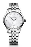 945960713-174 - Alliance Small Mother-of-Pearl Dial Watch w/Stainless Steel Bracelet - thumbnail