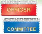 Custom Horizontal Stock Title Ribbon with two-sided tape (1 5/8