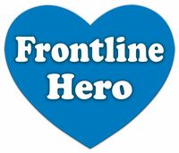 """""""Blue Hearts for Heroes"""", Frontline Hero Magnet, (Made in the U.S.A.)"""