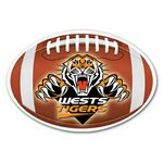 Full Color Football Shaped Car Magnet