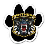 Full Color Paw Shaped Car Magnet