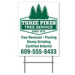 Vertical Format 2 Sided (1 color) Corrugated Plastic Sign (24