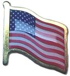 Custom Printed Flag Gold Plated Lapel Pins (Made in USA)