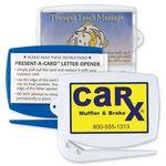 Custom Present-A-Card Letter Opener