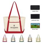 Custom Medium Cotton Canvas Sailing Tote Bag