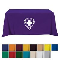 Flat Poly/Cotton 4-sided Table Cover - fits 6