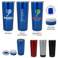 18 Oz. Cadence Stainless Steel Tumbler With Speaker