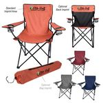 Custom Heathered Folding Chair With Carrying Bag