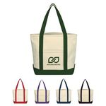 Custom Small Heavy Cotton Canvas Boat Tote Bag