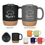 Custom 14 Oz. Cork Base Ceramic Mug