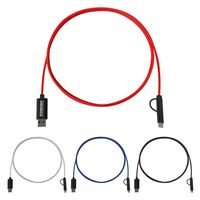 3-In-1 5 Ft. Braided Charging Cable