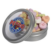 Short Round Tin with Conversation Hearts