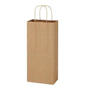 Custom Kraft Paper Brown Wine Bag - 5.25