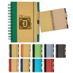Custom Eco-Inspired Spiral Notebook & Pen