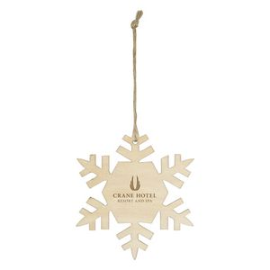 Custom Wood Ornament - Snowflake