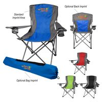 Two-Tone Folding Chair With Carrying Bag