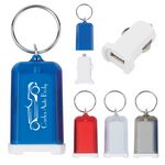 Custom Mini USB Car Charger Key Chain