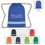 Custom Lil' Bit Reflective Non-Woven Drawstring Bag