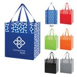 Custom Non-Woven Geometric Shopping Tote Bag