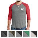 Custom Alternative Men's Eco-Jersey 3/4-Sleeve Raglan Henley