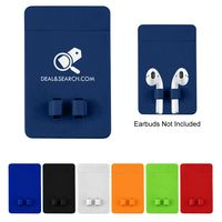 Phone Wallet With Earbuds Holder