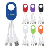 3-In-1 Charging Buddy With Carabiner Clip