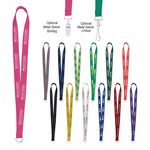 Custom Sewn Screen Printed Polyester Value Lanyard