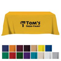 Flat Poly/Cotton 3-sided Table Cover - fits 8