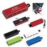 Custom 4-Port Traveler USB Hub With Phone Stand